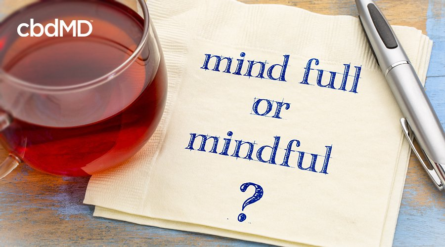 A napkin sits beside a glass of wine with mind full or mindful written on it