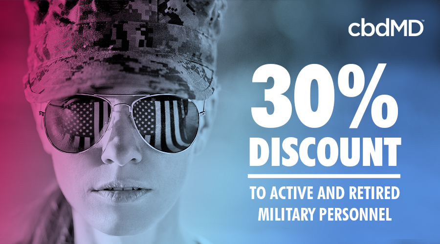 A woman with american flag sunglasses looks at the camera beside a 30% discount offer