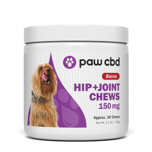 Pet CBD Hip & Joint Soft Chews for Dogs - Bacon - 150 mg - 30 Count