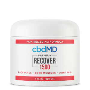 CBD Topical  Recover 1500mg 120ml Inflammation Cream