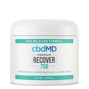 CBD Topical  Recover 750mg 120ml Inflammation Cream