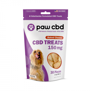 Paw CBD Dog Treats 30 Count Baked Cheese 150mg