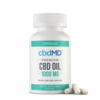 CBD Oil Capsules 1000 mg 60 Count