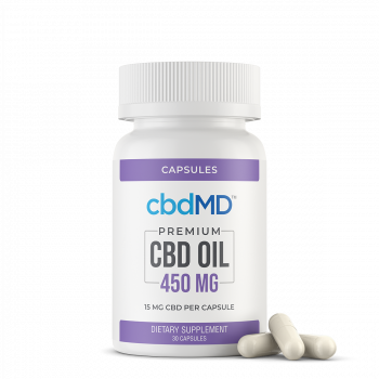 CBD Oil Capsules 450 mg 30 Count