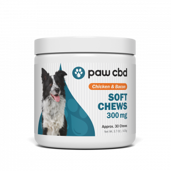 Paw CBD Dog Soft Chews 30 Count Chicken and Bacon 300mg