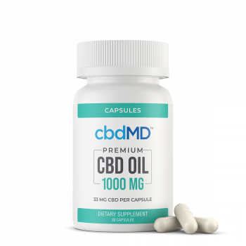 CBD Oil Capsules 1000 mg 30 Count