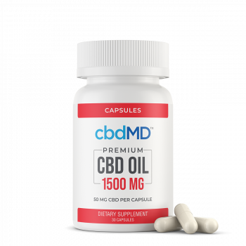 CBD Oil Capsules 150 mg 30 count