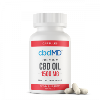 CBD Oil Capsules 1500 mg 60 Count