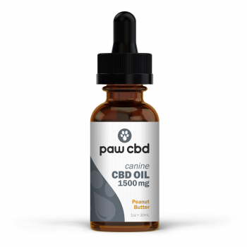 CBD Oil for Dogs 30mL Peanut Butter 1500mg