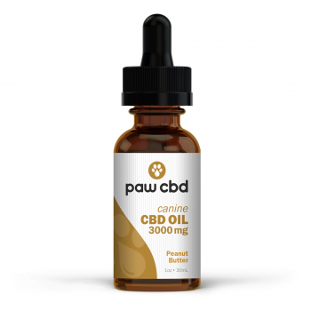 CBD Oil for Dogs 30mL Peanut Butter 3000mg