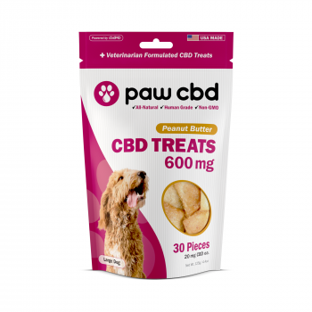 Paw CBD Dog Treats 30 Count Peanut Butter 600mg