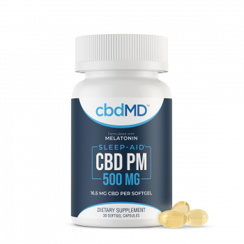 CBD PM Softgel Capsules - 500 mg - 30 Count