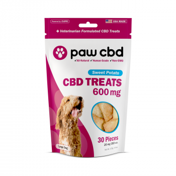 Paw CBD Dog Treats 30 Count Sweet Potato 600mg