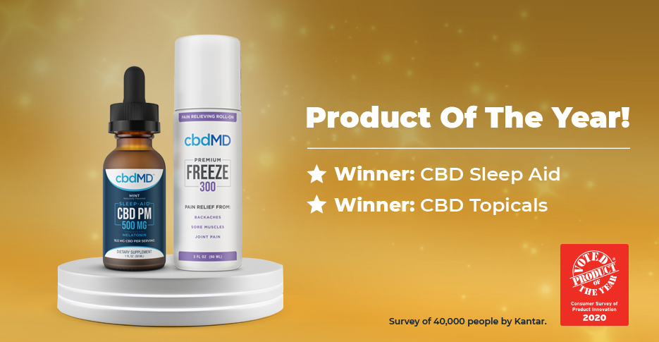 "In the First Year CBD Products Were Considered, Two Products Voted ""Product of the Year 2020"""