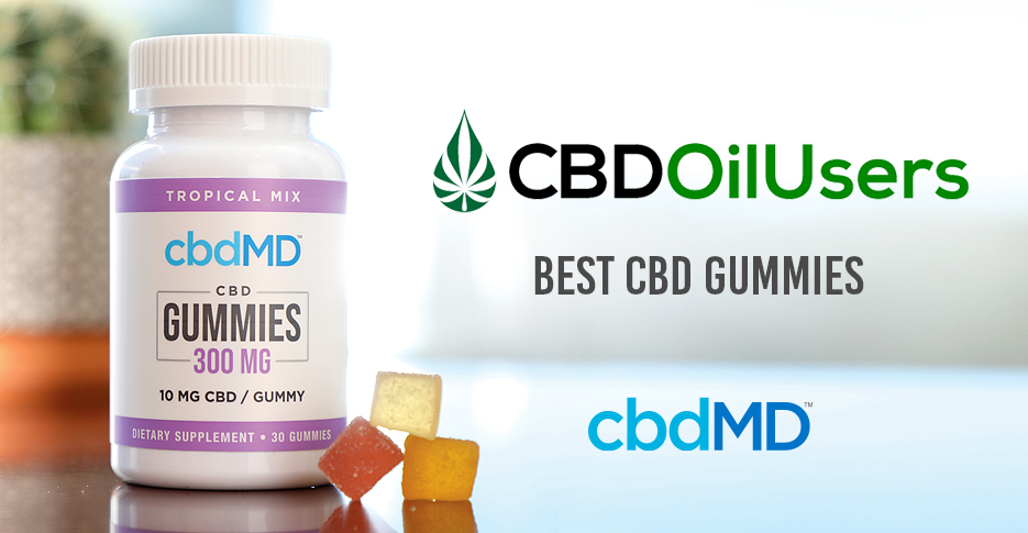 CBDOilUsers.com Honors cbdMD for Best CBD Gummies