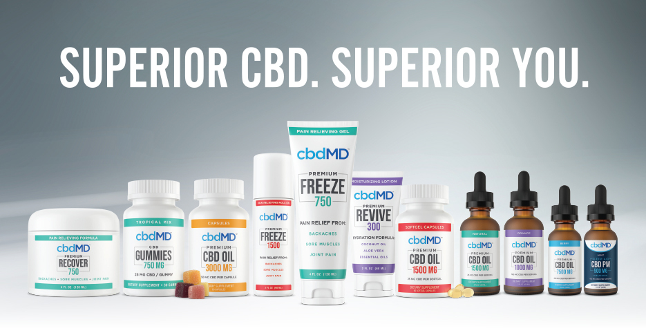 cbdMD Redefines the CBD Industry with New Superior Broad Spectrum Formula