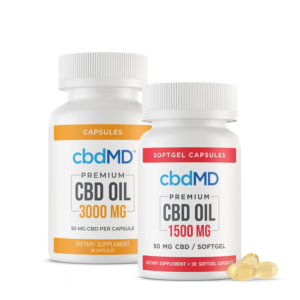 Premium CBD Oil Capsules 30 Count 450mg 100mg and 1500mg