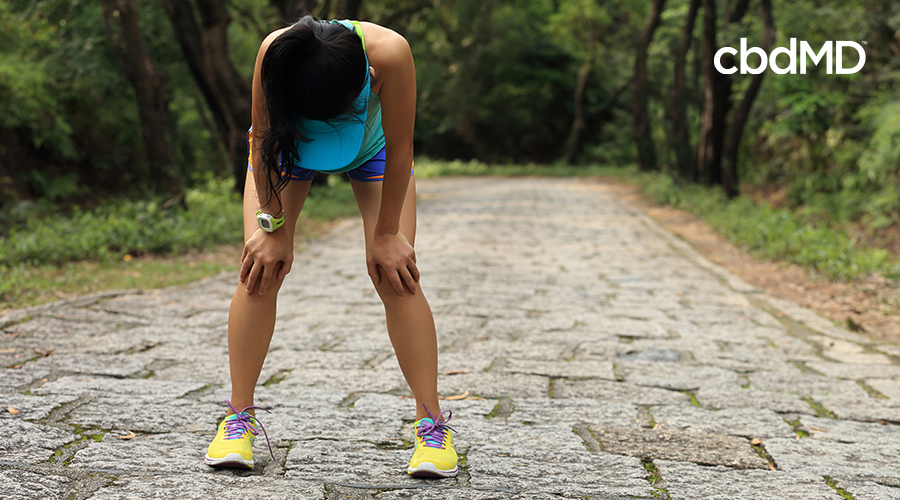 woman tired from running