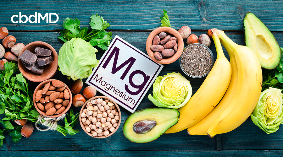 foods that conatin magnesium, including bananas, nuts and avacado