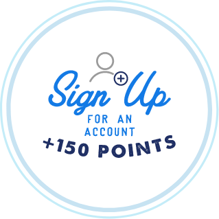 Sign up for an account for 150 points