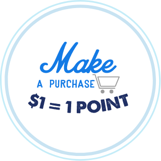 Make a purchase 1 dollar equals 1 point
